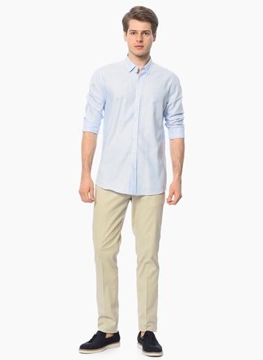 George Hogg Slim Fit Uzun Kollu Gömlek Mavi